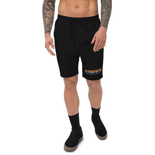 Men's fleece #LIVEINTRUTH Pride shorts
