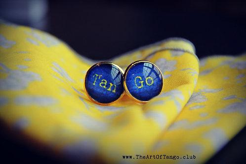 Tan-Go Blue Cufflinks