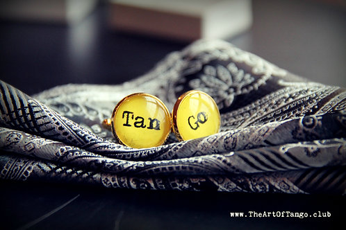 Tan-Go Yellow Cufflinks