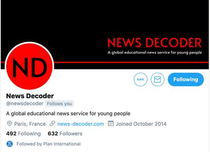 News Decoder Twitter