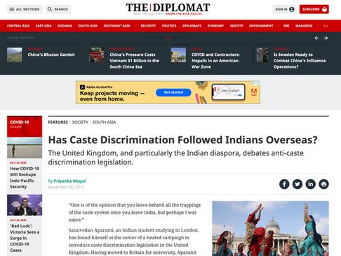The Diplomat - caste discrimination