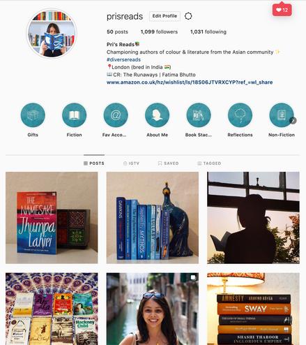 Pri's Reads Instagram