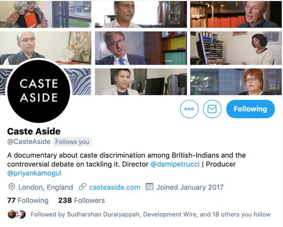 Caste Aside Twitter