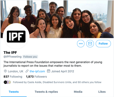 The IPF Twitter