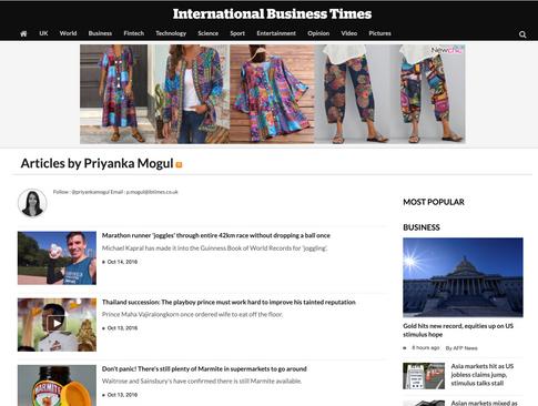 International Business Times Portfolio
