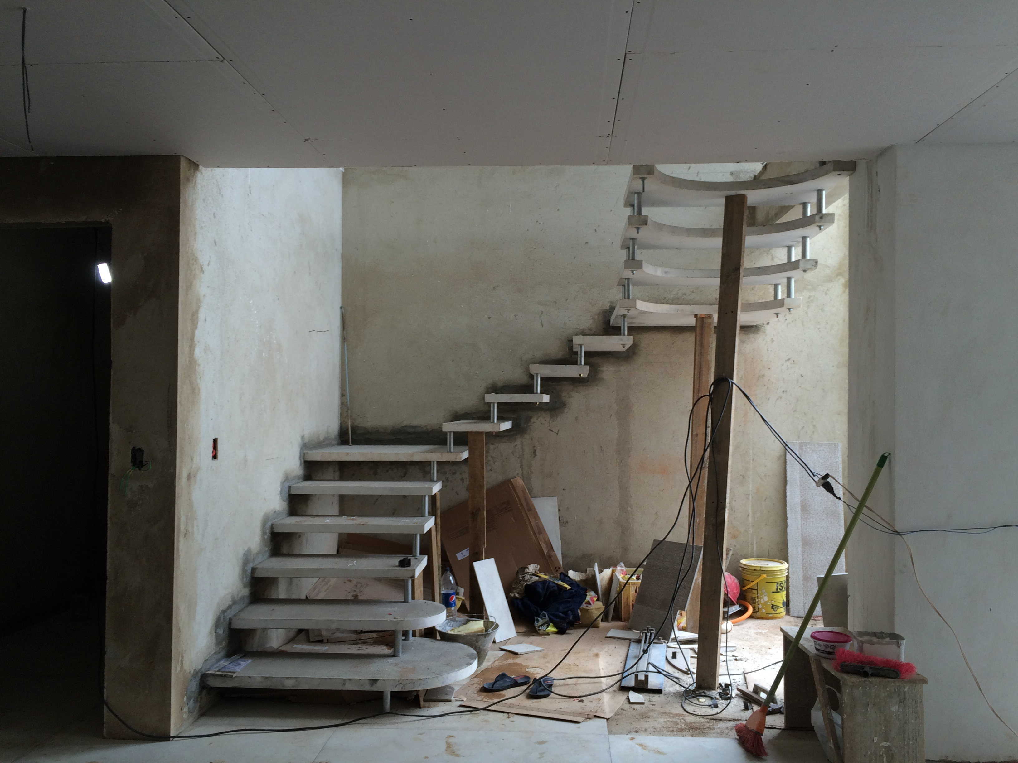 Escada solta- arquitetura