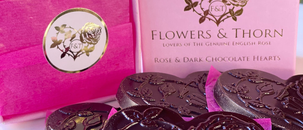 Rose & Dark Chocolate Hearts