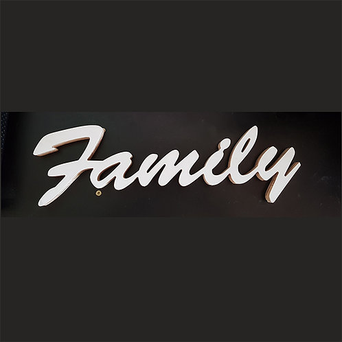 White Timber Family Sign