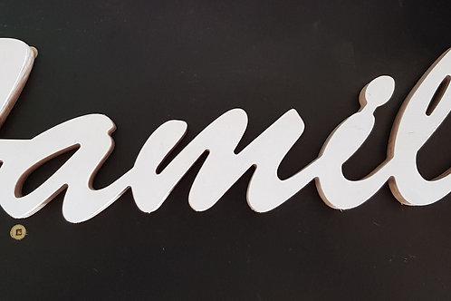 White Timber Family Sign
