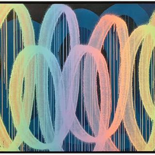 F120BT, 2020 acrylique et aérosol sur toile 130 x 195 cm