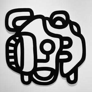 Jean-Michel, 2021 Acrylique sur bois marine 120 x 120 cm
