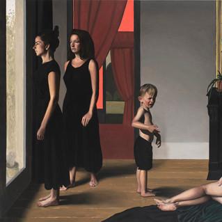 Confinement, 2021 Huile sur toile  155 x 191 cm