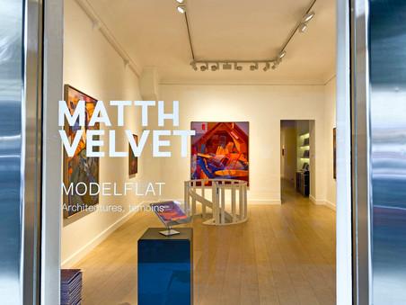 Matth Velvet's first exhibition: MODELFLAT