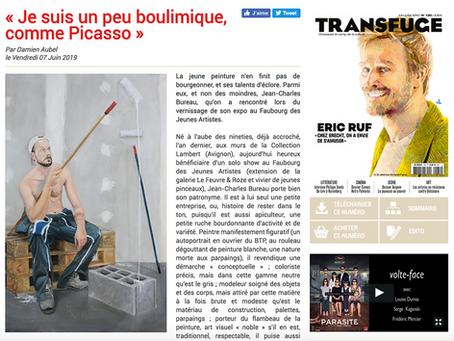 Jean-Charles Bureau : l'interview pour le magazine Transfuge