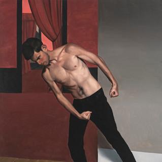 Le colérique, 2021 Huile sur toile 146 x 114 cm