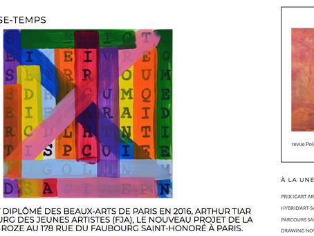 Arthur Tiar : l'entretien pour Point Contemporain