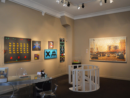 "Invader : ""Masterpieces"", installation views"