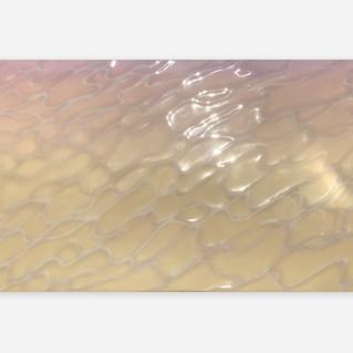 Surface and Depth #57, 2021 Acrylique, aérographe, résine polie sur panneau 90 x 180 cm