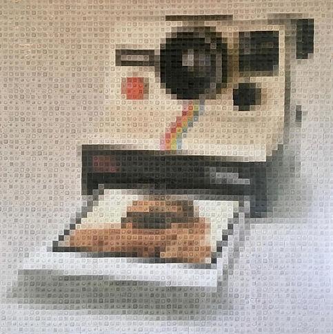 Vintage Snap. 120 x 120cm. Digital Inkje