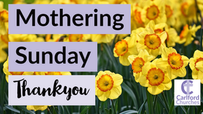 Mothering Sunday Thank yous