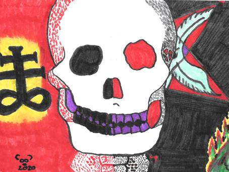 Watercolor Cards: Skull