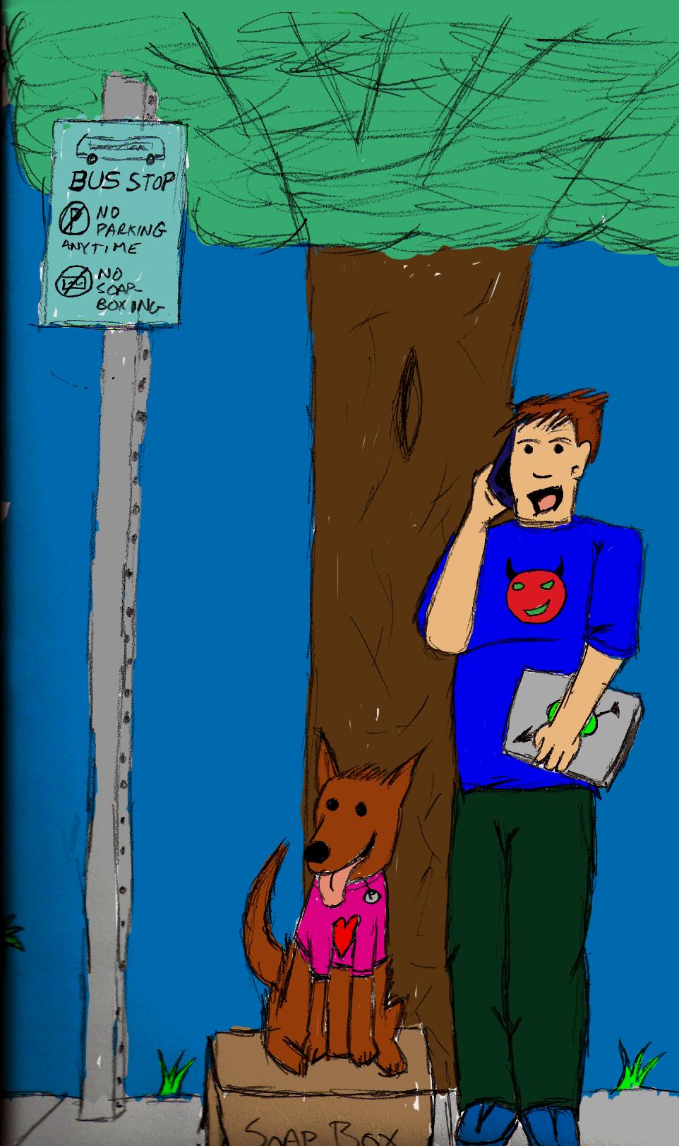 Phone and Dog