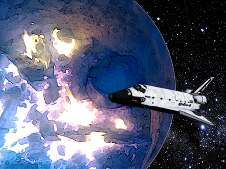 Space Shuttle Adrift