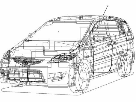 Mazda5 In Vector Shapes