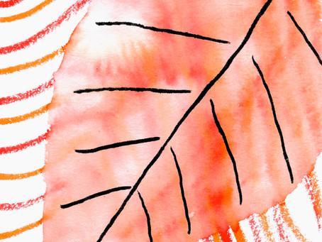Watercolors: A Fall Leaf