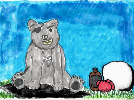 Watercolor Cards: Garras the Bear
