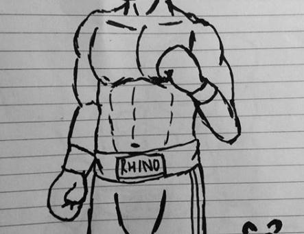 A Rhinoceros Boxer
