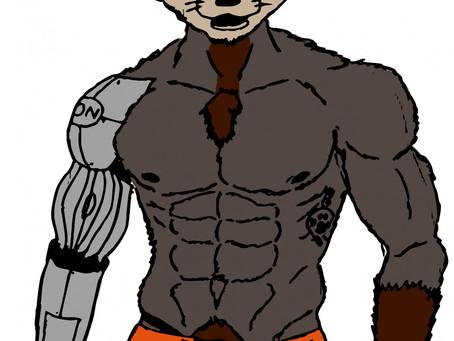 RoboCoonie in his undies