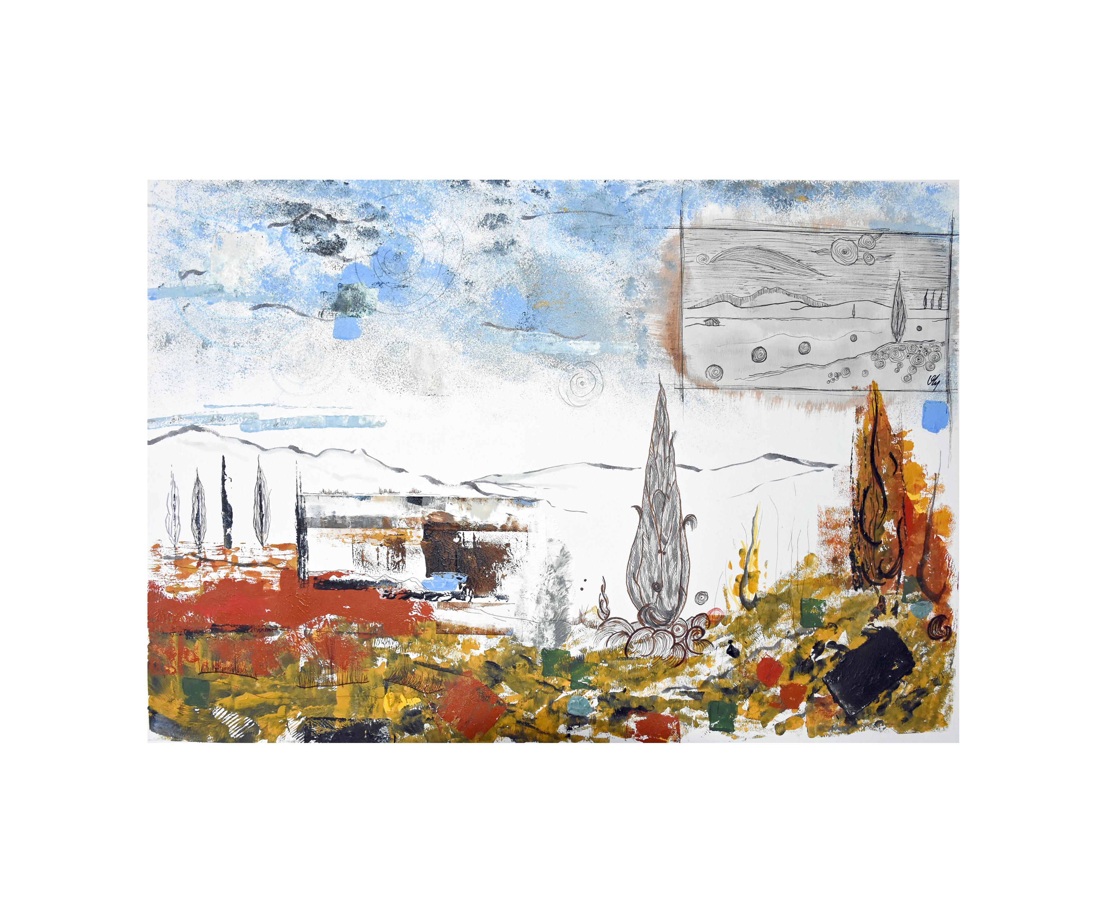 Horizons-Les cyprès de Vincent