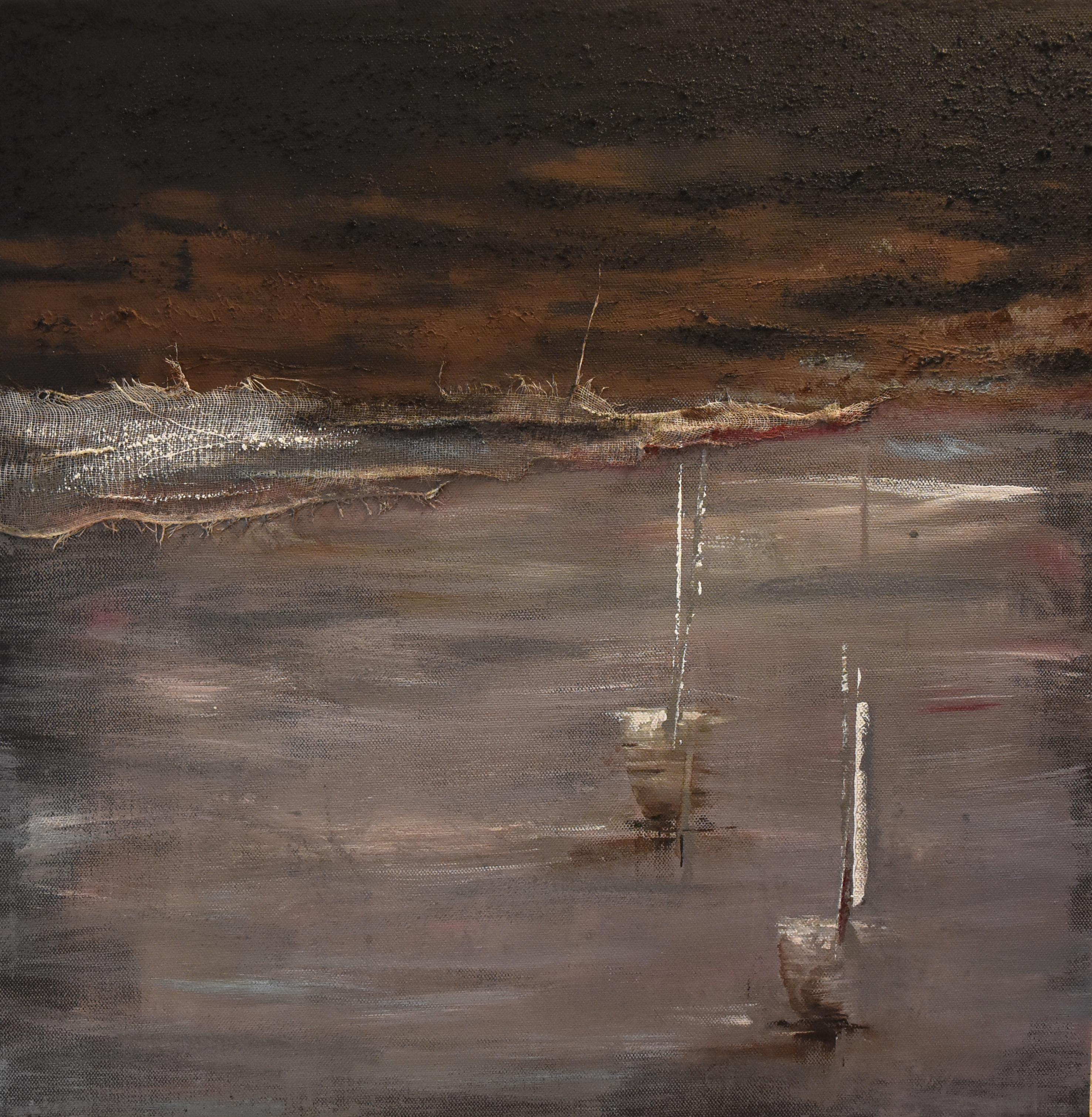 Bateaux, ciel noir