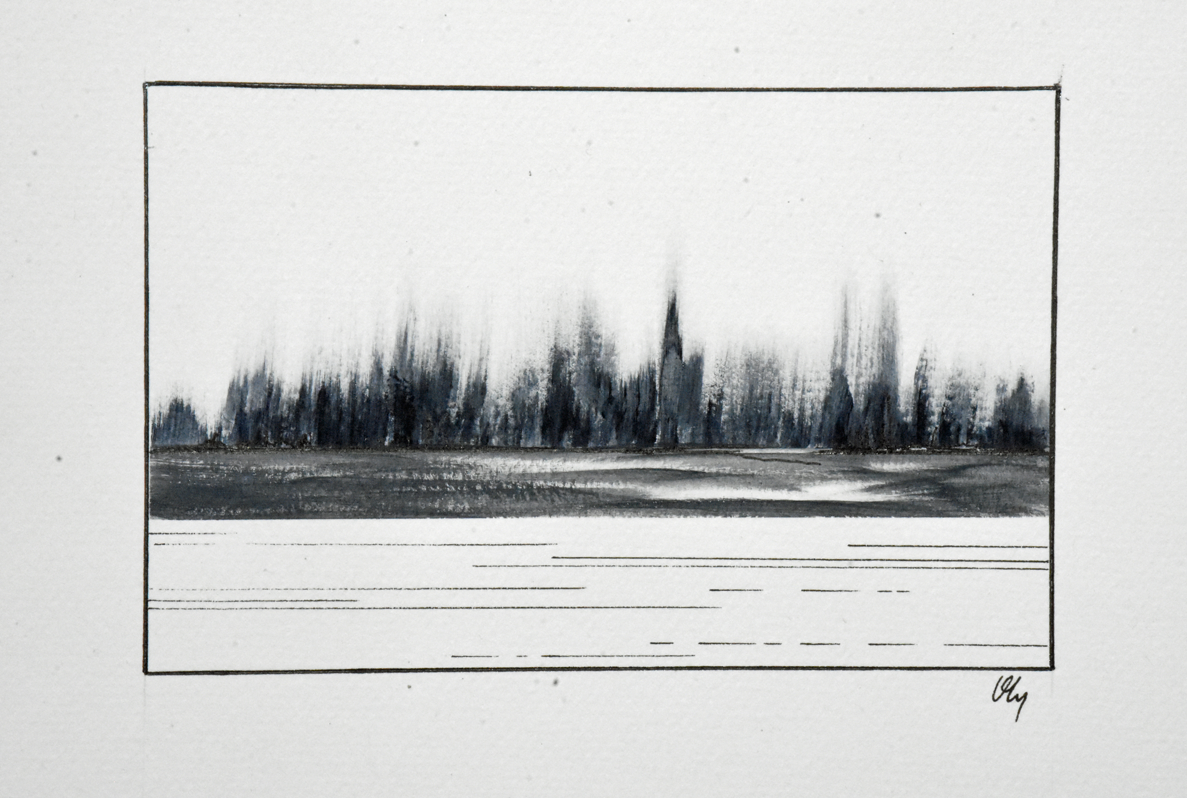 Paysage noir et blanc#6