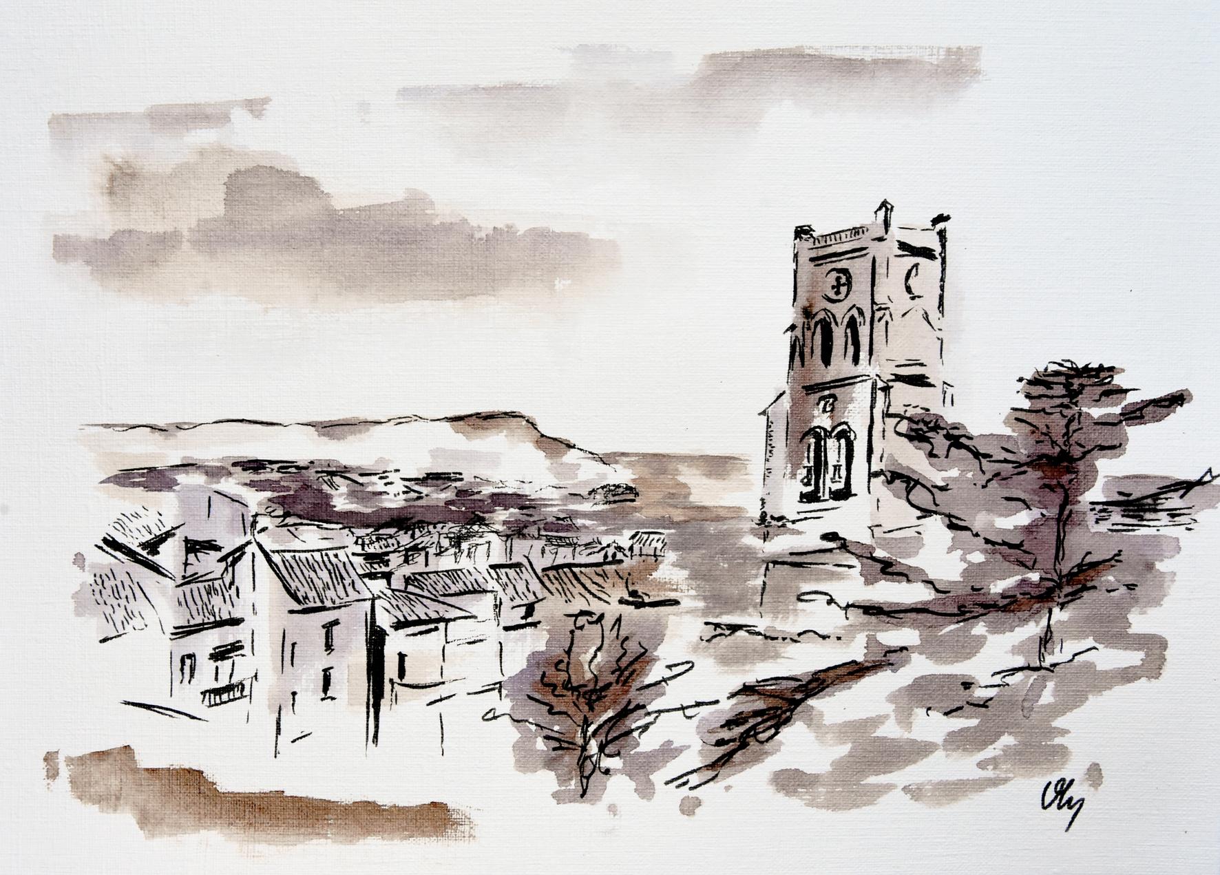 Les toits de Pont-Saint-Esprit