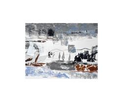 Horizons-Petit paysage avec les cyprès