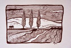 Trois cyprès