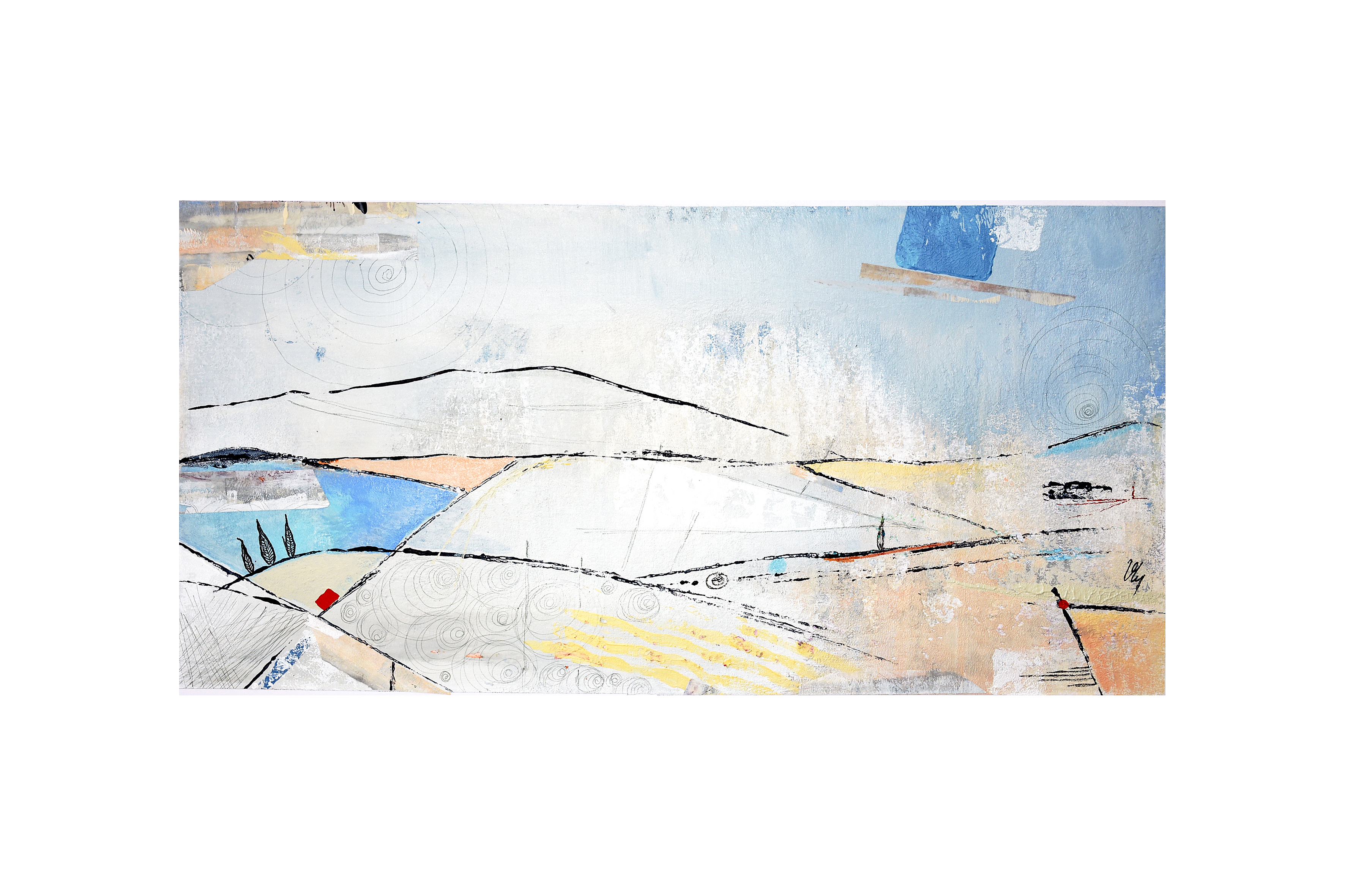 Paysage-Le champ bleu