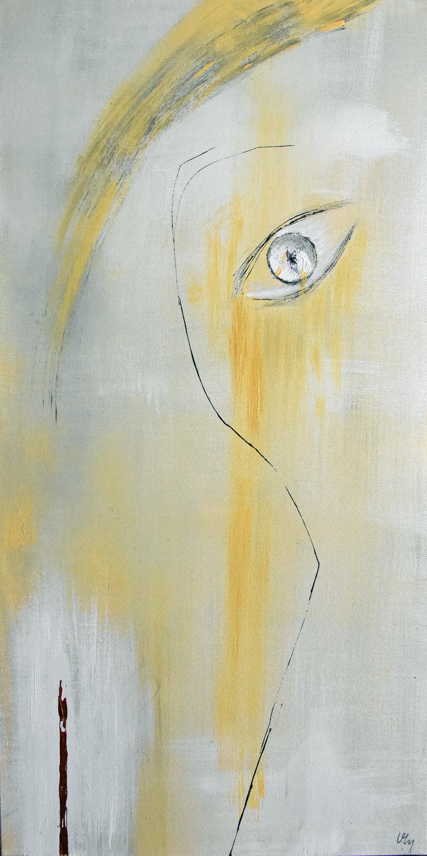 Autoportrait blond cendré
