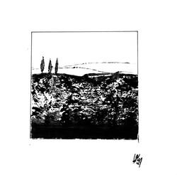 Petit paysage noir d'encre#1
