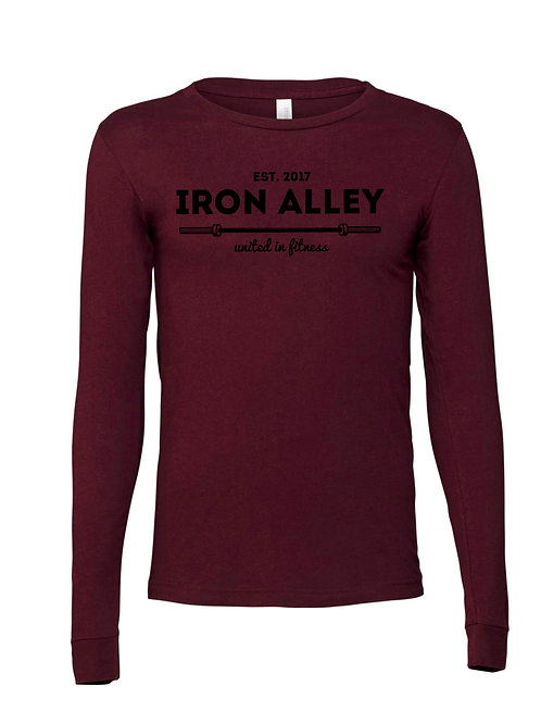 Unisex Maroon Long Sleeve