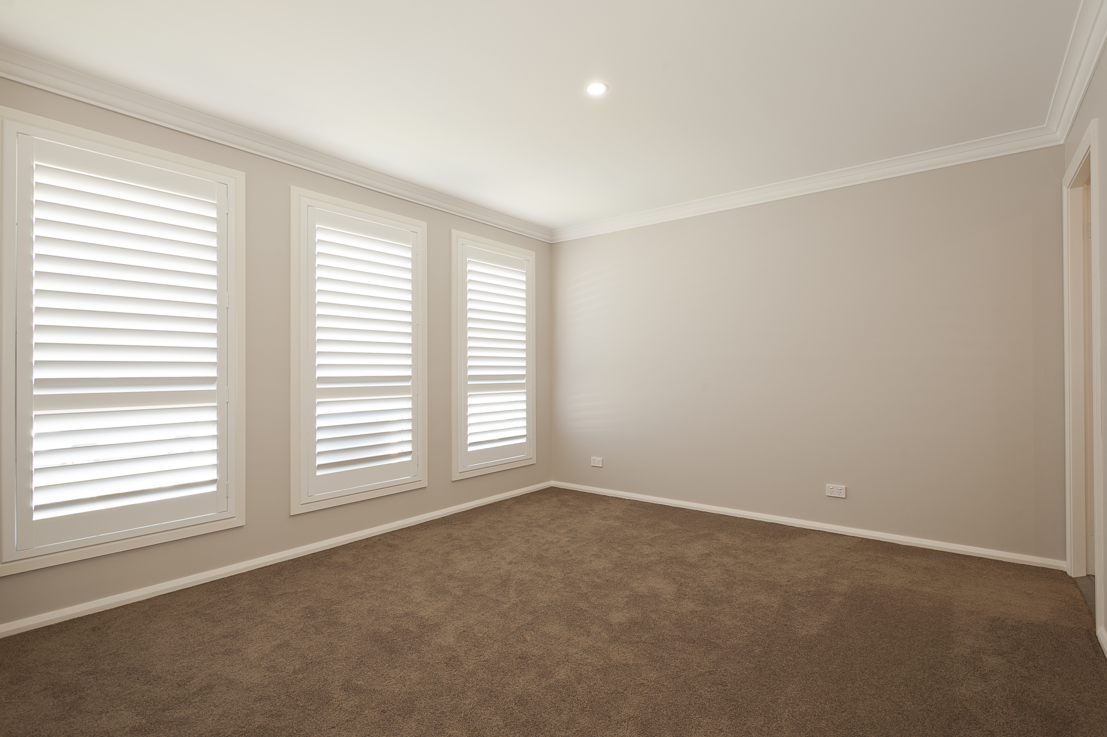 Master Bedroom with shutters