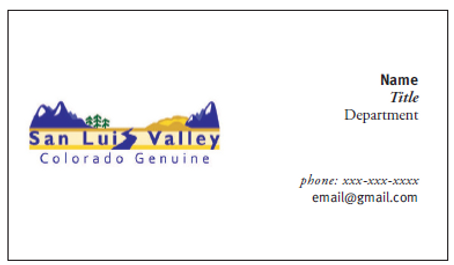 An example of how to place the logo on a business card.