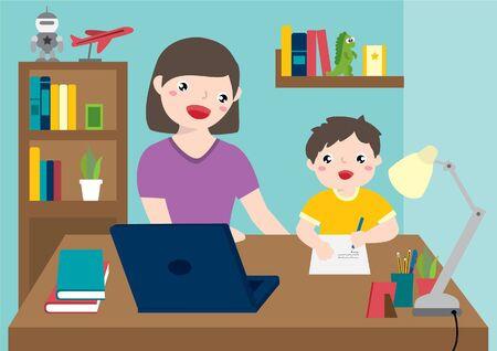 Fenix (re)confinée: le début de notre programme de homeschooling.