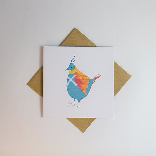 Graffiti Bird 2 Card - Small