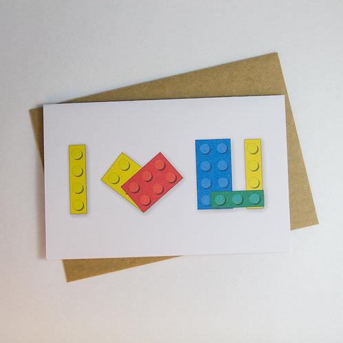 I Love You - Lego Greeting Card