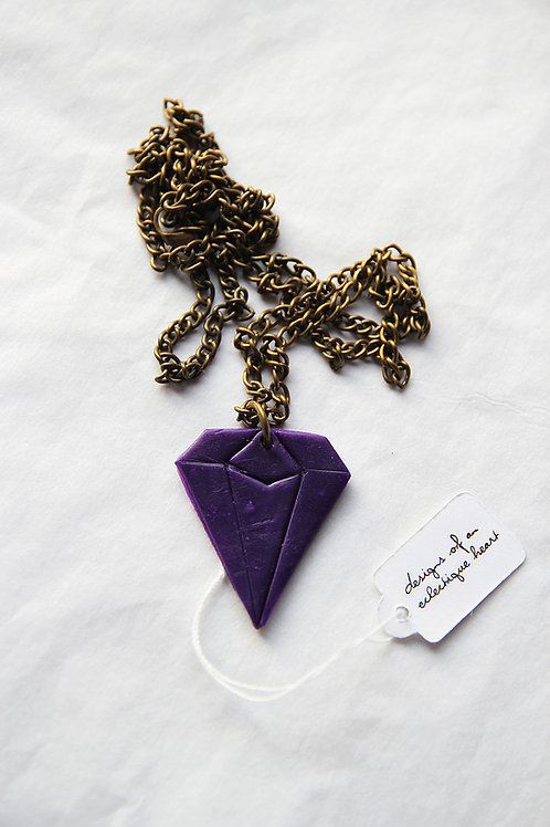 Polymer Clay Diamond Necklace #2
