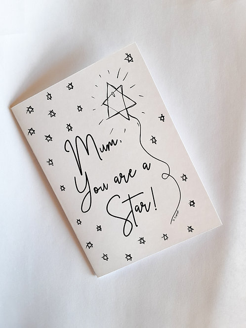 Print & Paint Your Own Mother's Day Greeting Card - Star