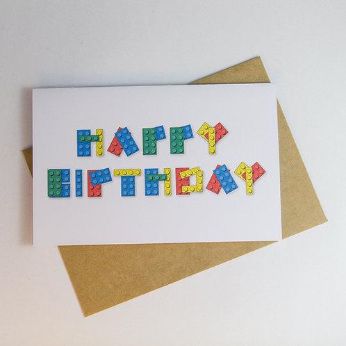 Happy B'day Lego Greeting Card